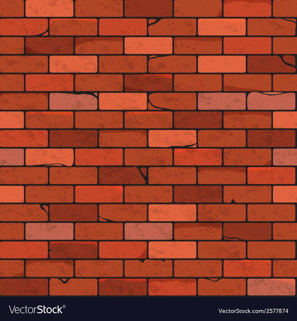Brick wall seamless patterns vector | Price: 1 Credit (USD $1)