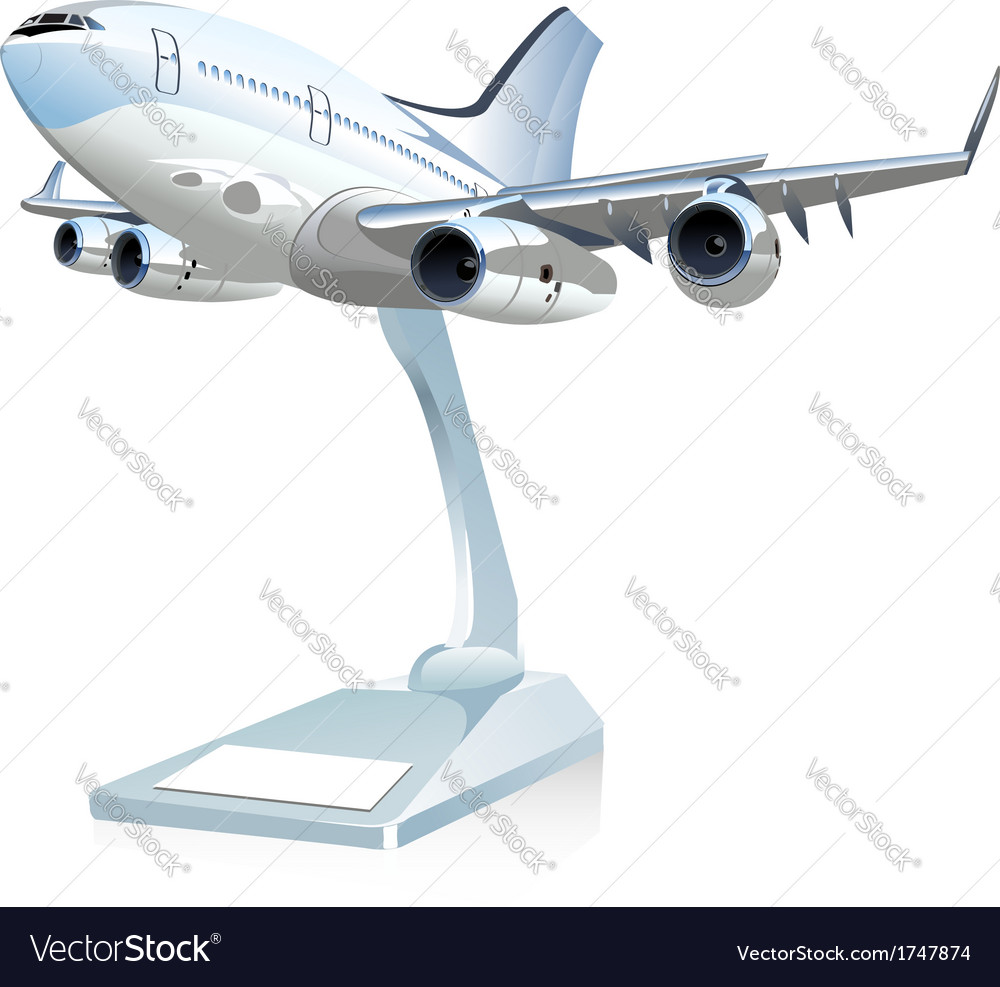 Cartoon airliner vector | Price: 3 Credit (USD $3)