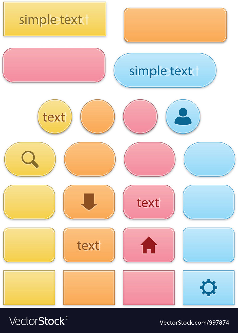 Elegant colorful buttons vector | Price: 1 Credit (USD $1)