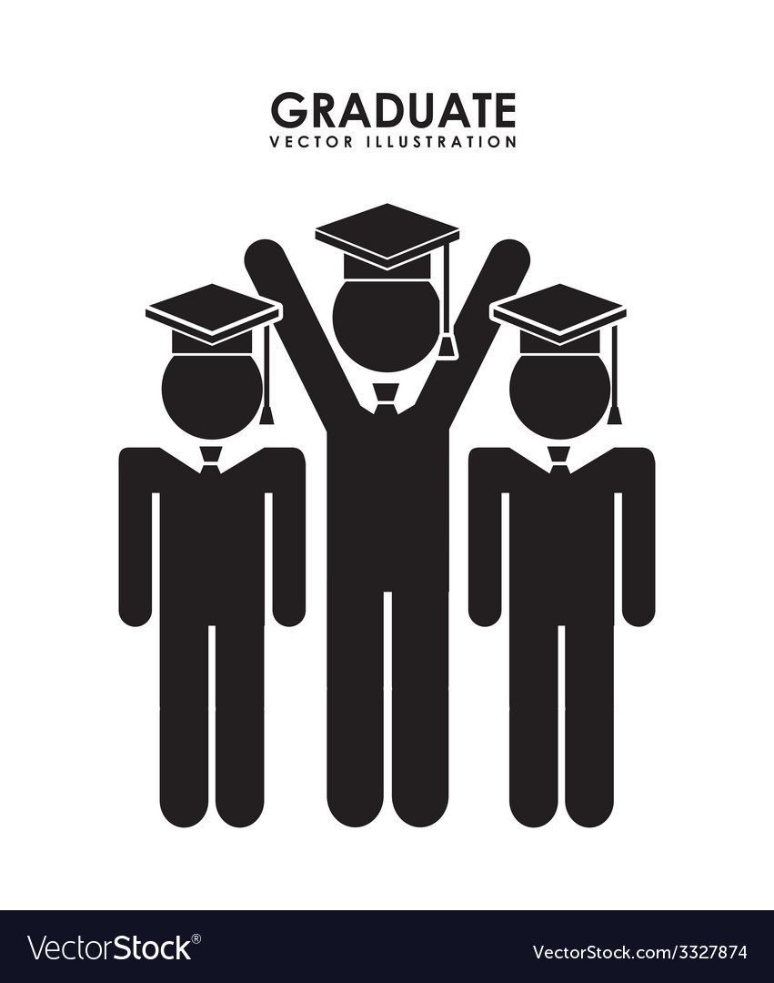 Graduate design vector | Price: 1 Credit (USD $1)