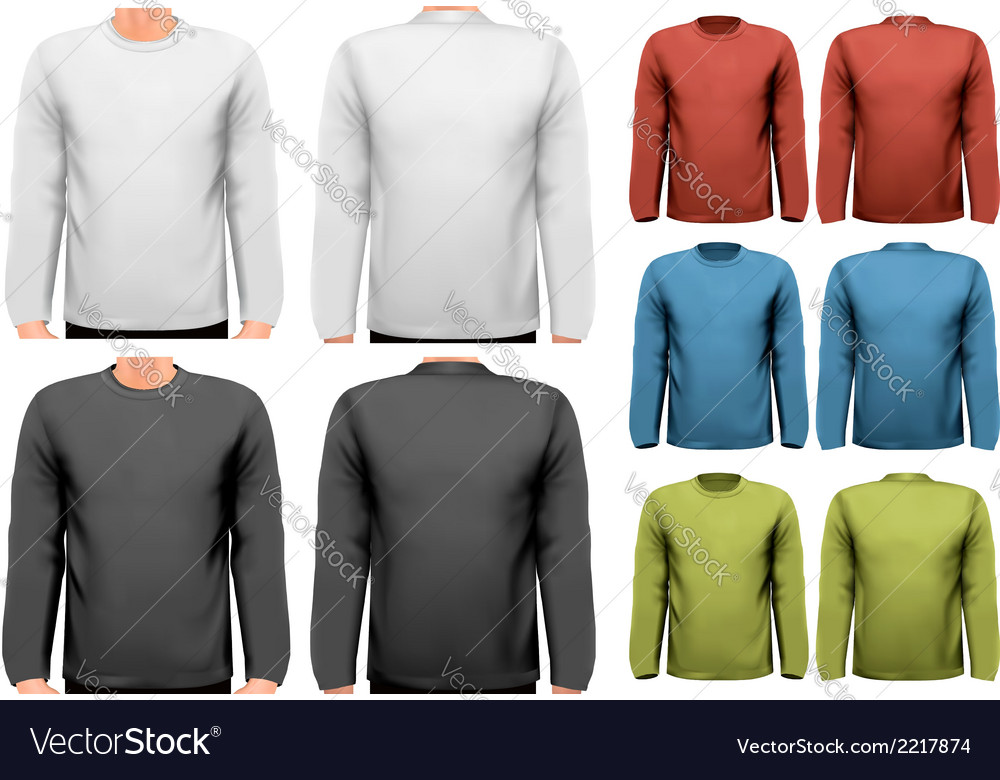 Long sleeved shirts with sample text space vector