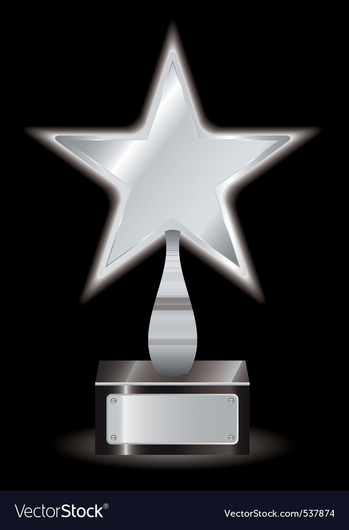 Metal silver star award with space for your own te vector | Price: 1 Credit (USD $1)