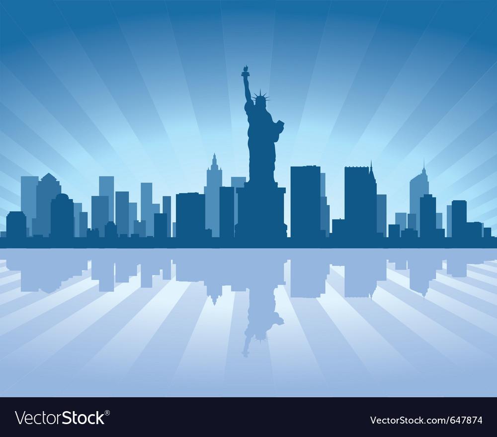 New york skyline vector | Price: 1 Credit (USD $1)