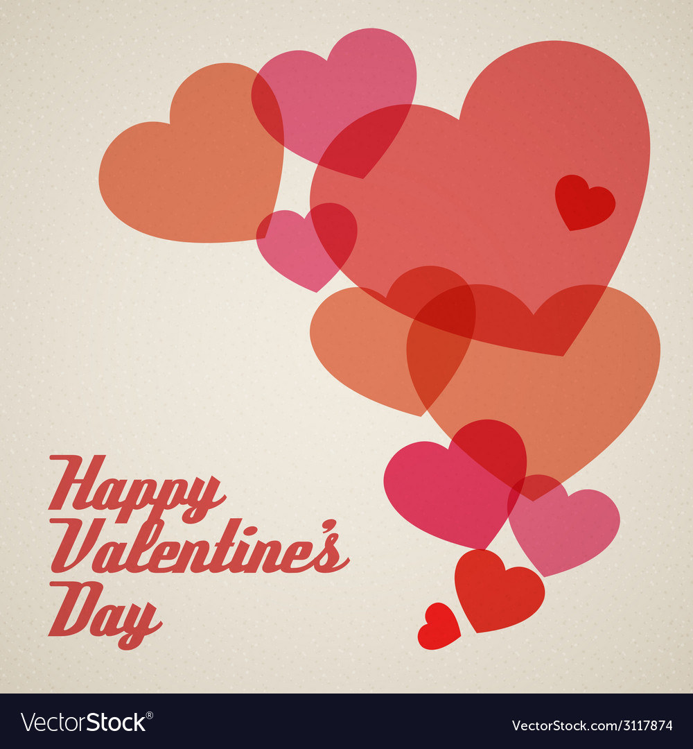 Retro valentines card vector | Price: 1 Credit (USD $1)