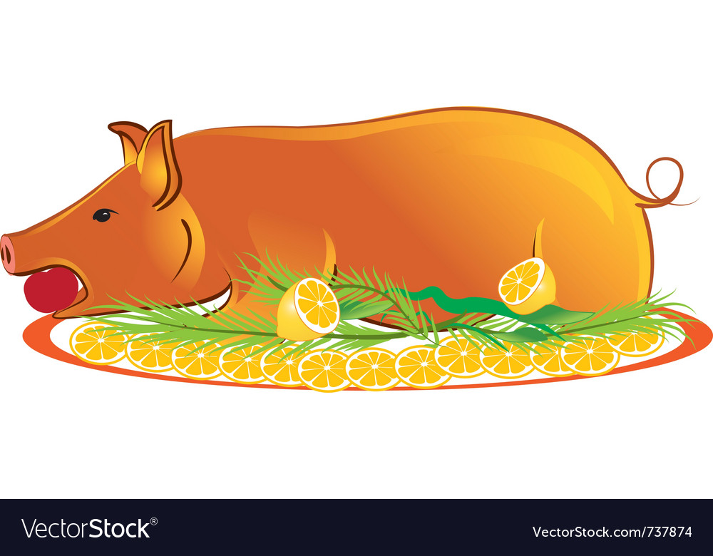 Roasted piglet vector | Price: 1 Credit (USD $1)