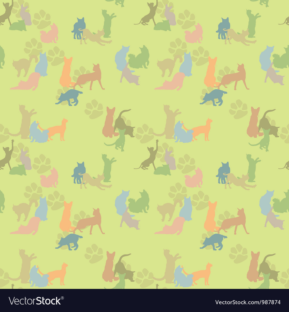 Seamless texture with cats vector | Price: 1 Credit (USD $1)