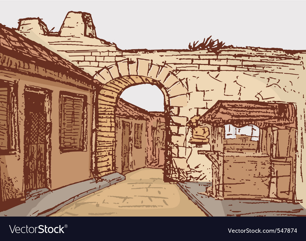 Small road with arch vector | Price: 1 Credit (USD $1)