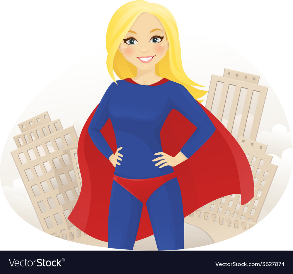 Super hero woman vector | Price: 1 Credit (USD $1)