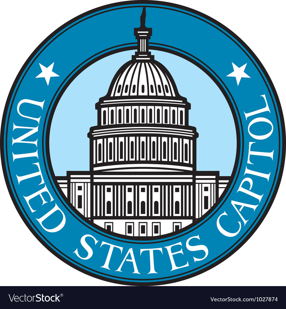 United states capitol badge vector | Price: 1 Credit (USD $1)