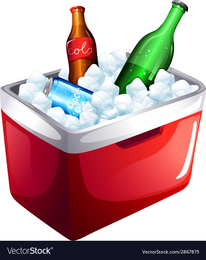 A cooler with softdrinks vector | Price: 1 Credit (USD $1)