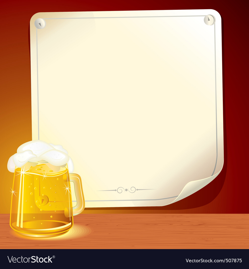 Beer poster for your text vector | Price: 1 Credit (USD $1)