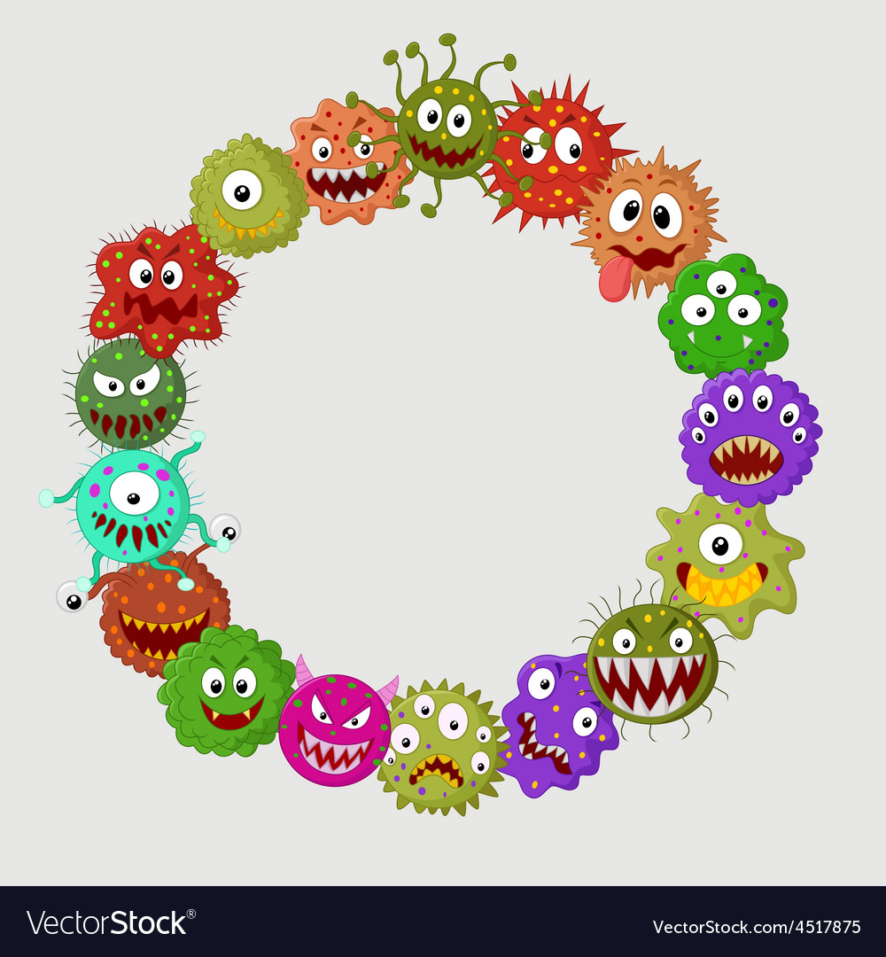 Cartoon germ colony vector | Price: 1 Credit (USD $1)