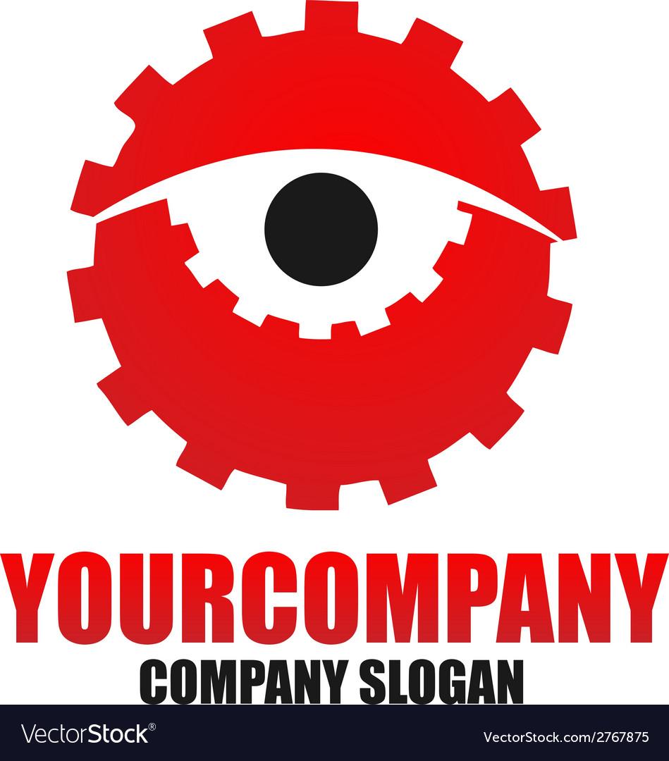Cog eye logo template vector | Price: 1 Credit (USD $1)