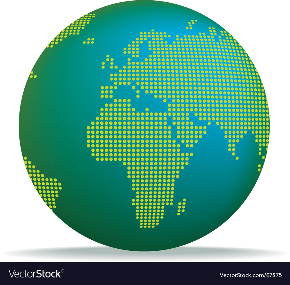 Dotted globe vector | Price: 1 Credit (USD $1)