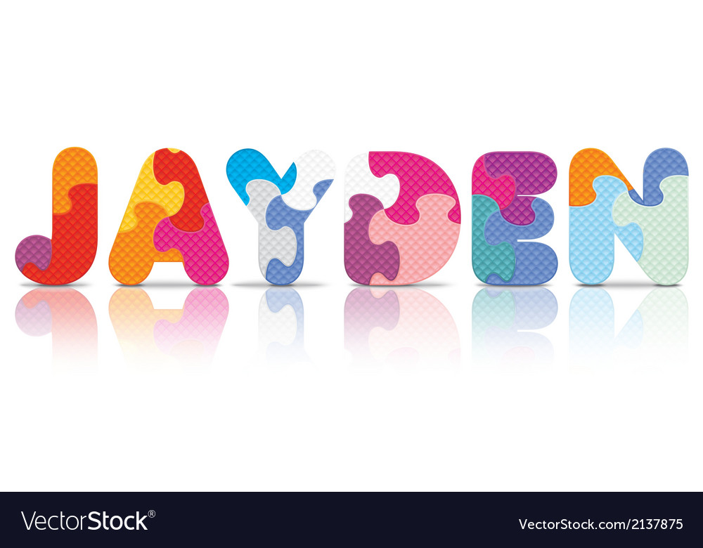 Jayden written with alphabet puzzle vector | Price: 1 Credit (USD $1)