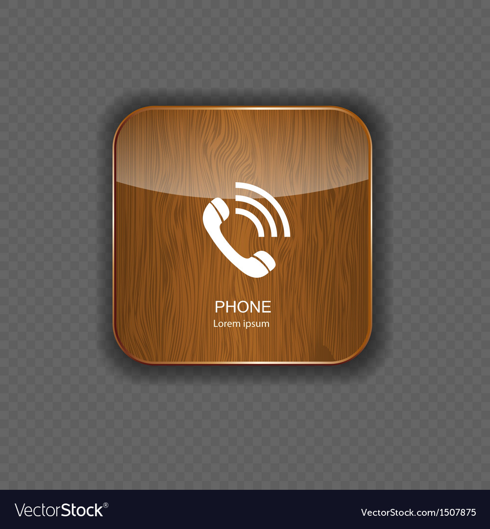 Phone wood application icons vector | Price: 1 Credit (USD $1)