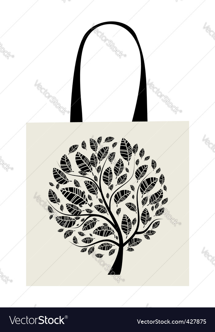 Shopping bag design art tree vector | Price: 1 Credit (USD $1)