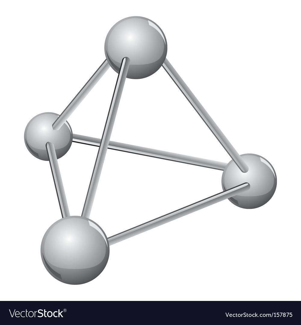 Simple silver molecule vector | Price: 1 Credit (USD $1)