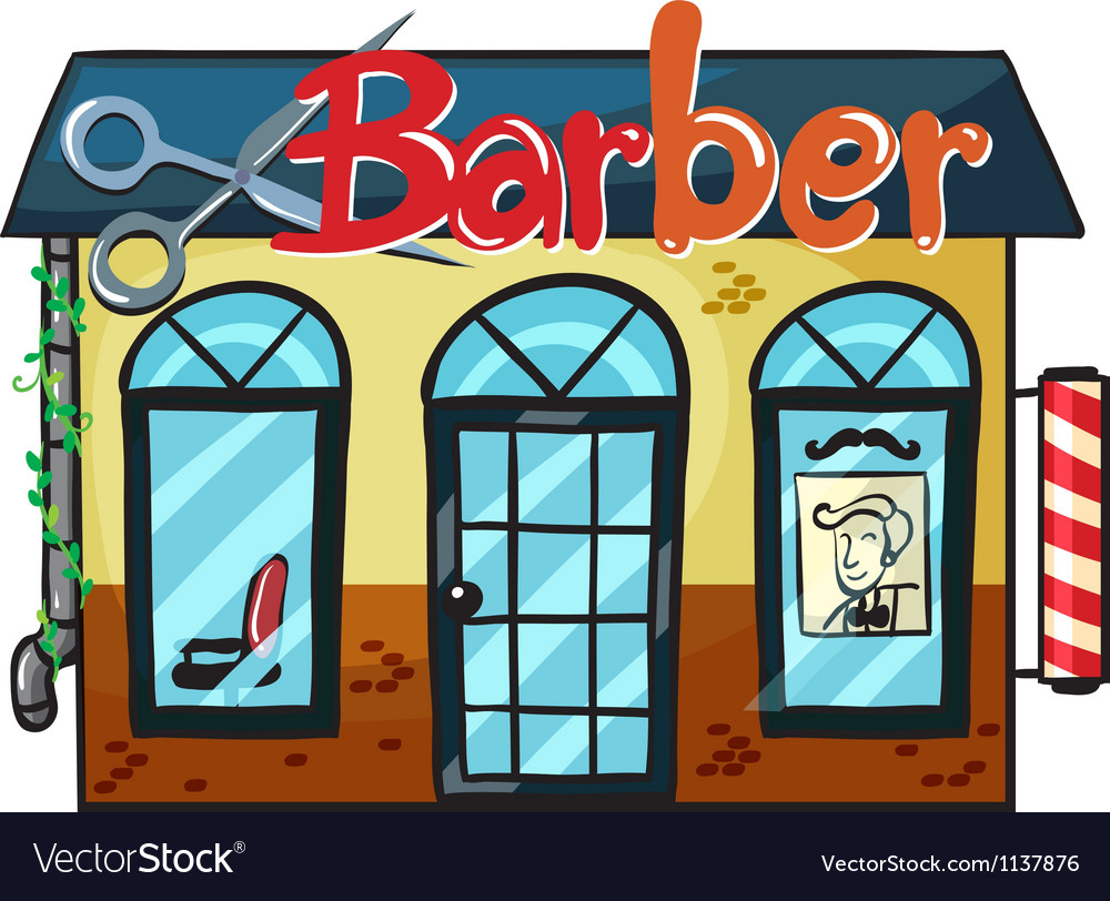 A barber shop vector | Price: 1 Credit (USD $1)
