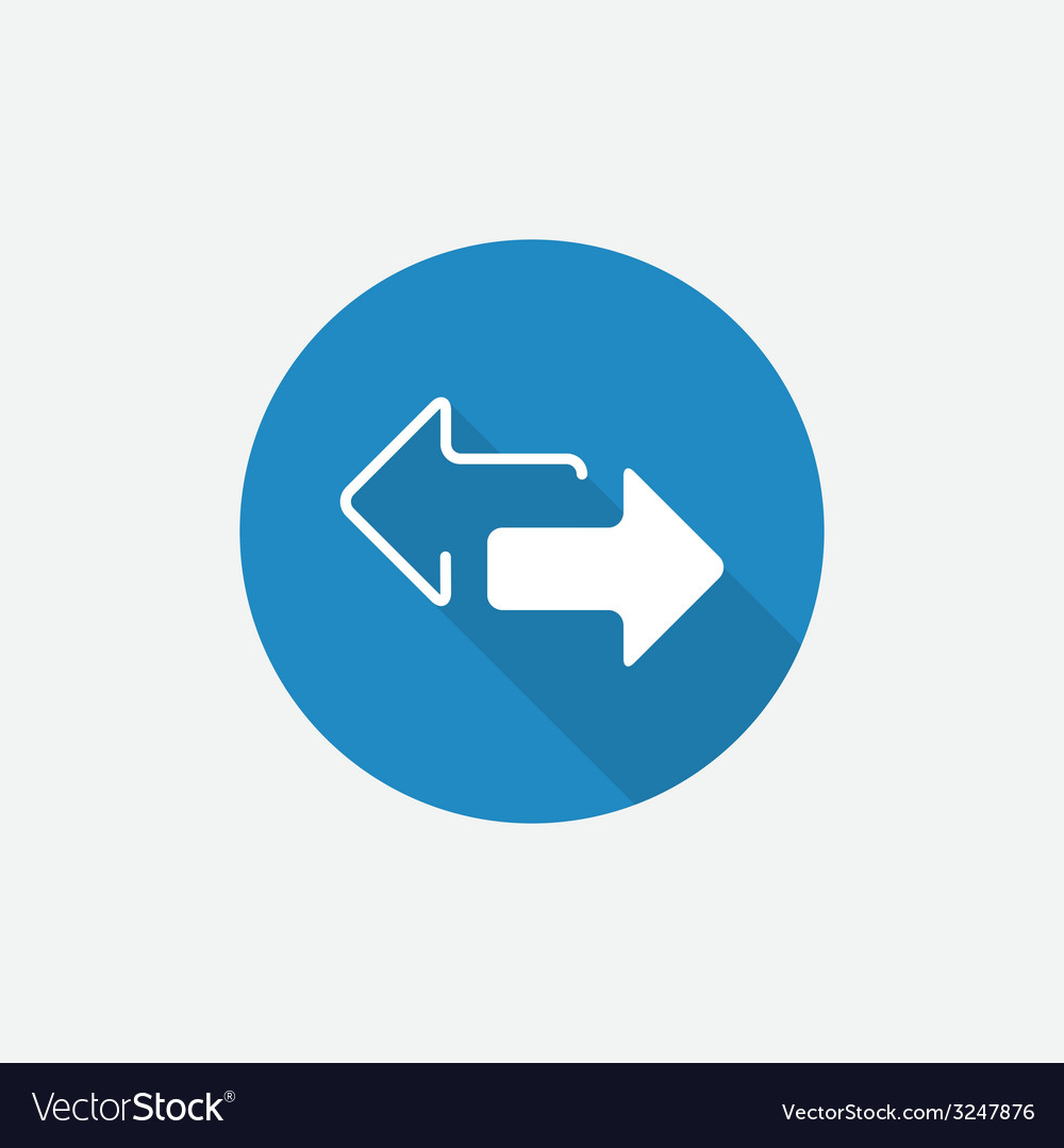 Arrow flat blue simple icon with long shadow vector   Price: 1 Credit (USD $1)