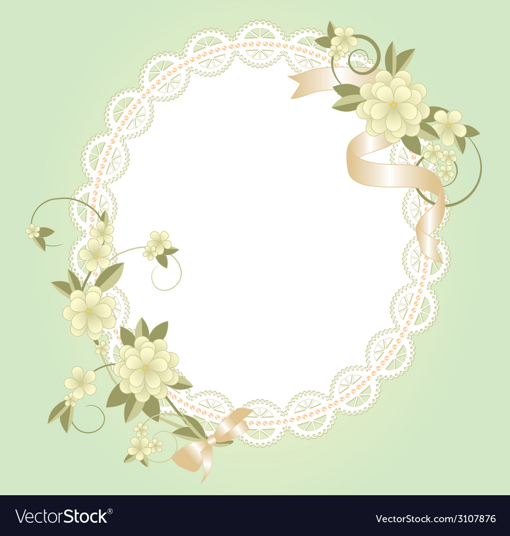 Background with lace frame vector | Price: 1 Credit (USD $1)