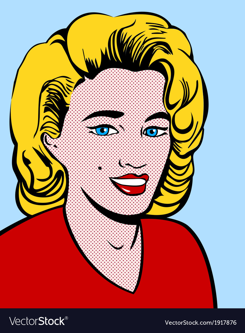 Blond pop art woman vector | Price: 1 Credit (USD $1)