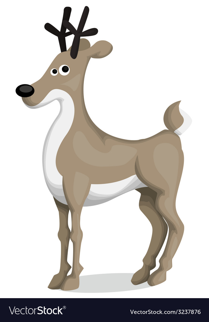 Cartoon deer vector | Price: 1 Credit (USD $1)