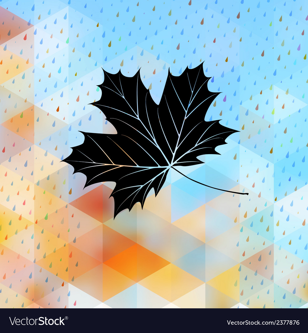 Geometric background card with maple leaf eps 10 vector | Price: 1 Credit (USD $1)