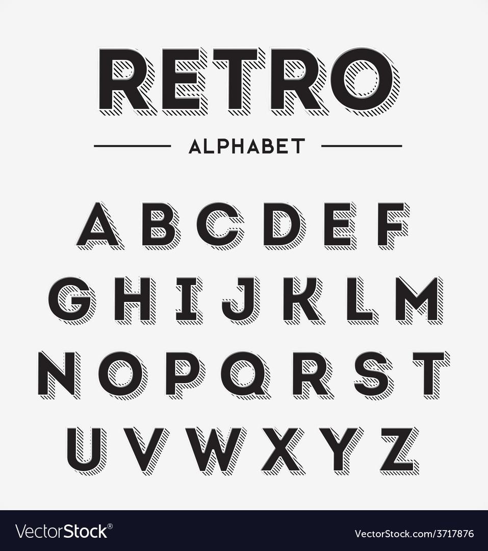 Graphic retro letters set vector | Price: 1 Credit (USD $1)
