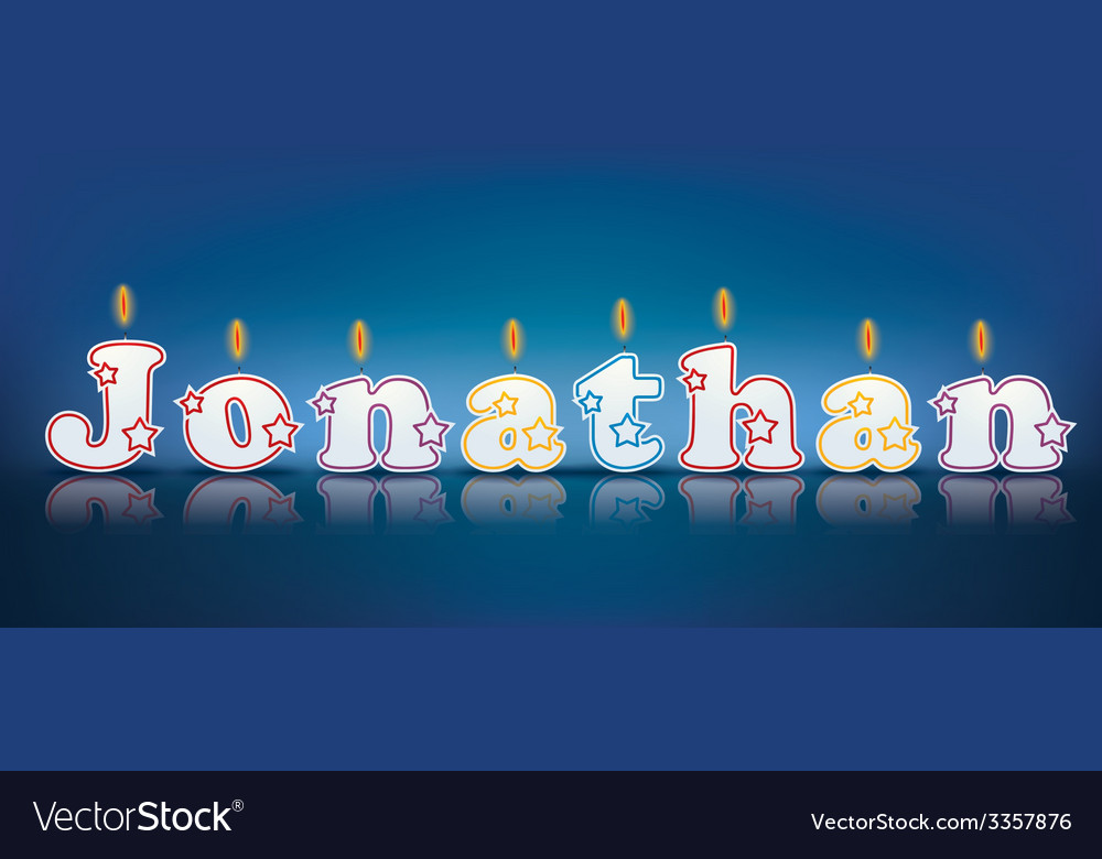 Jonathan written with burning candles vector   Price: 1 Credit (USD $1)