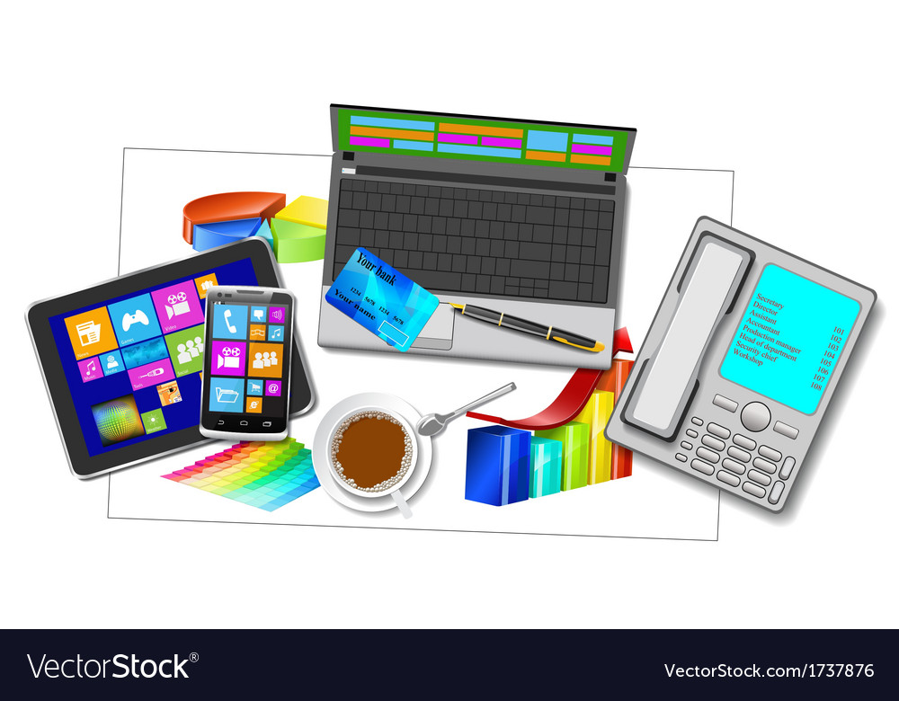 Office workplace vector   Price: 1 Credit (USD $1)