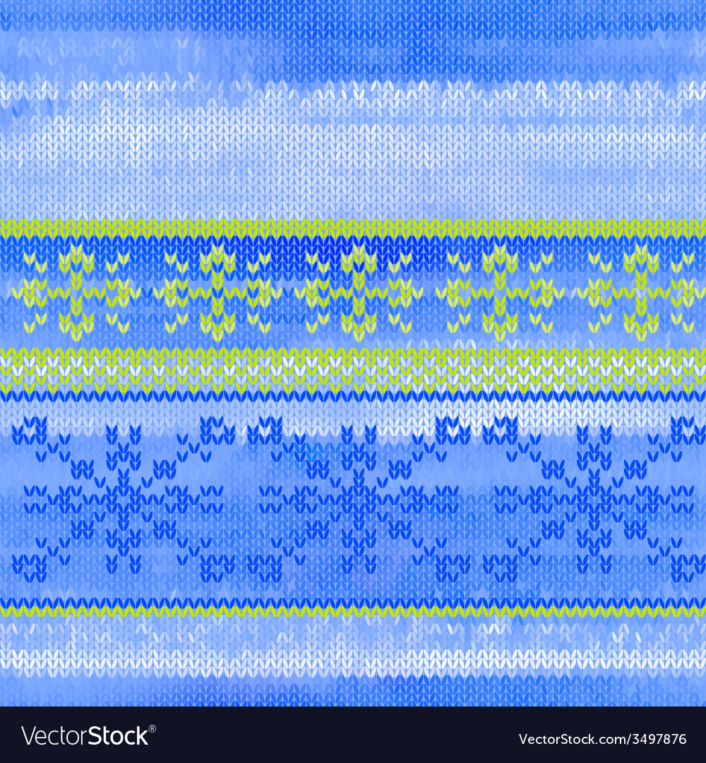 Seamless knitted pattern with snowflakes vector   Price: 1 Credit (USD $1)