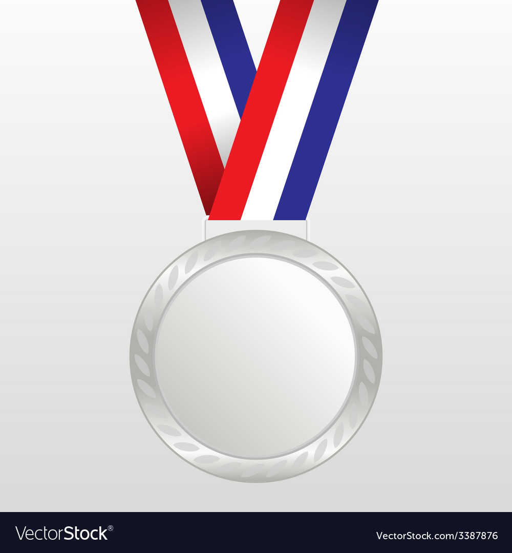 Silver medal winners on the tape vector | Price: 1 Credit (USD $1)
