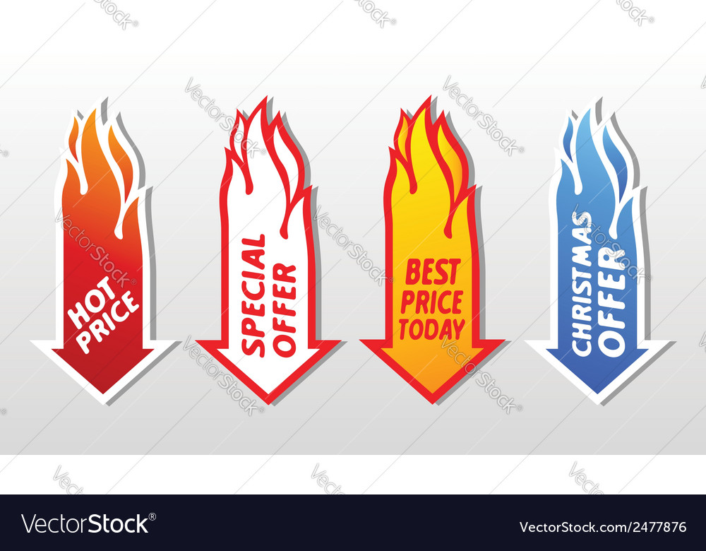 Special offer flaming arrow symbols concept vector | Price: 1 Credit (USD $1)