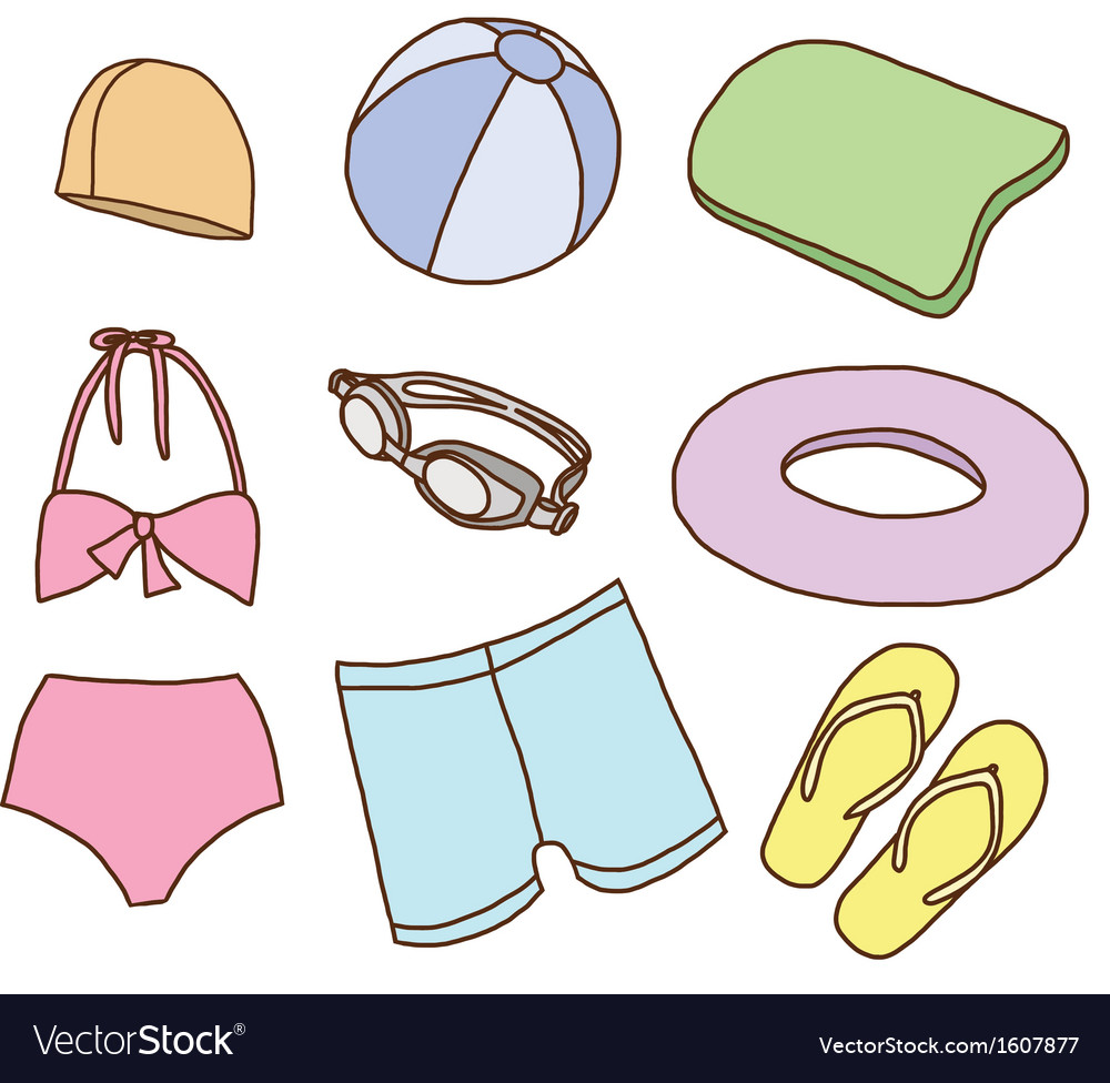 Accessories for swimming vector | Price: 1 Credit (USD $1)