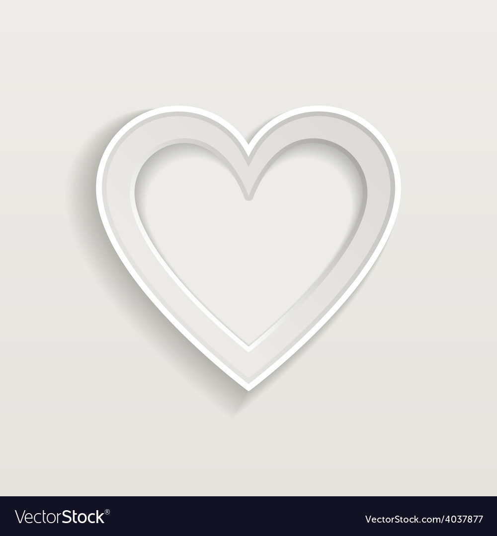 Blank picture frame in heart shape for your vector | Price: 1 Credit (USD $1)