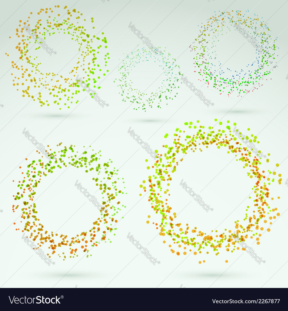 Bright fresh circle round design elements vector | Price: 1 Credit (USD $1)