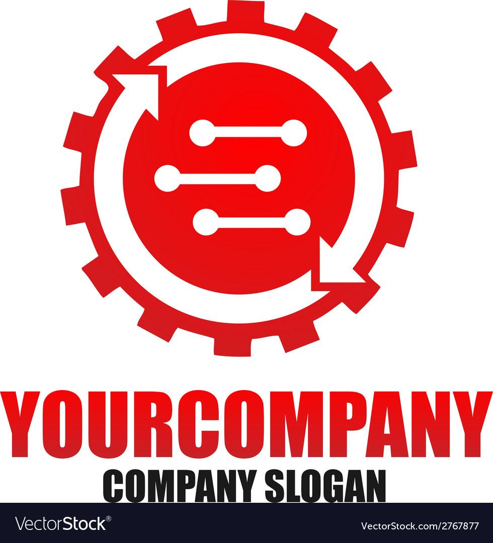 Cog setting logo template vector | Price: 1 Credit (USD $1)