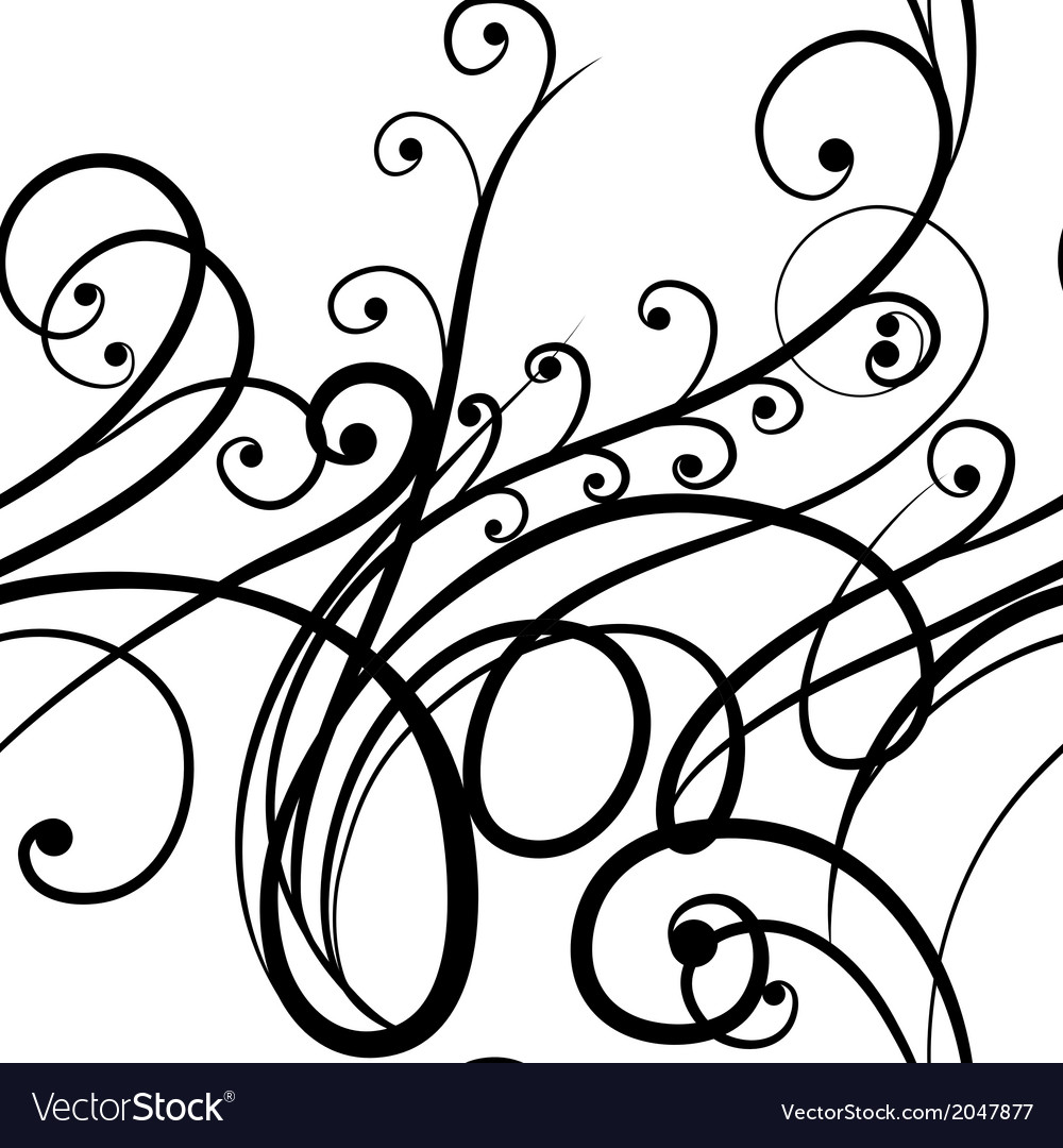Elegant seamless scribble floral ornament vector | Price: 1 Credit (USD $1)