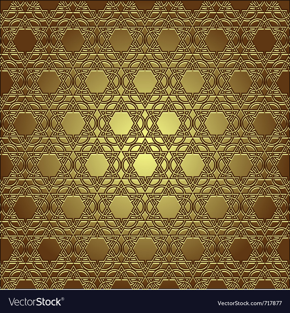 Golden seamless eastern ornament vector | Price: 1 Credit (USD $1)