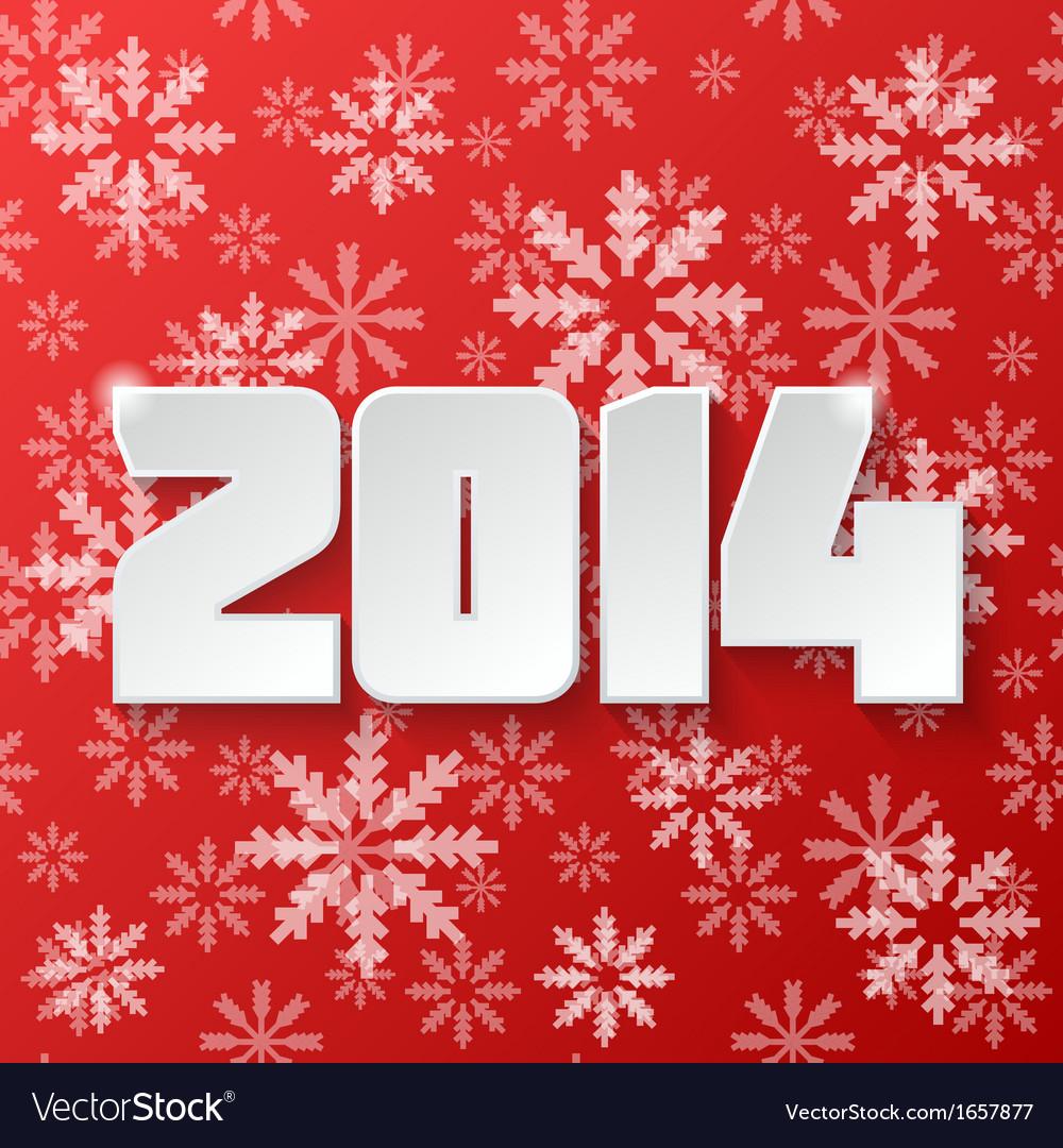 Happy new year 2014 design vector | Price: 1 Credit (USD $1)