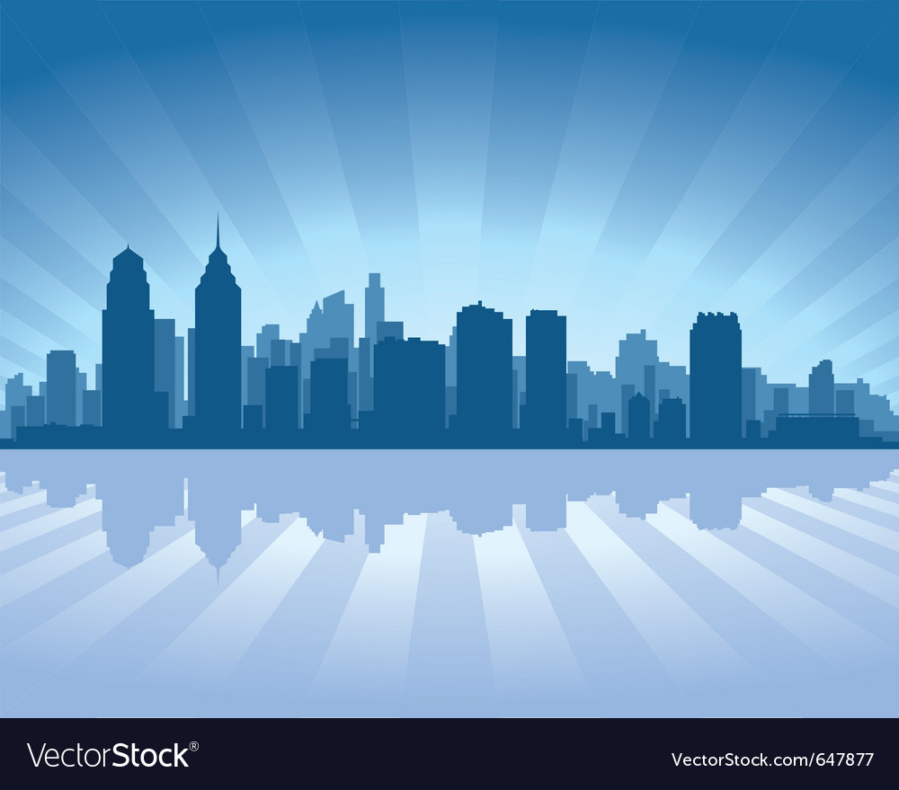 Philadelphia skyline vector | Price: 1 Credit (USD $1)