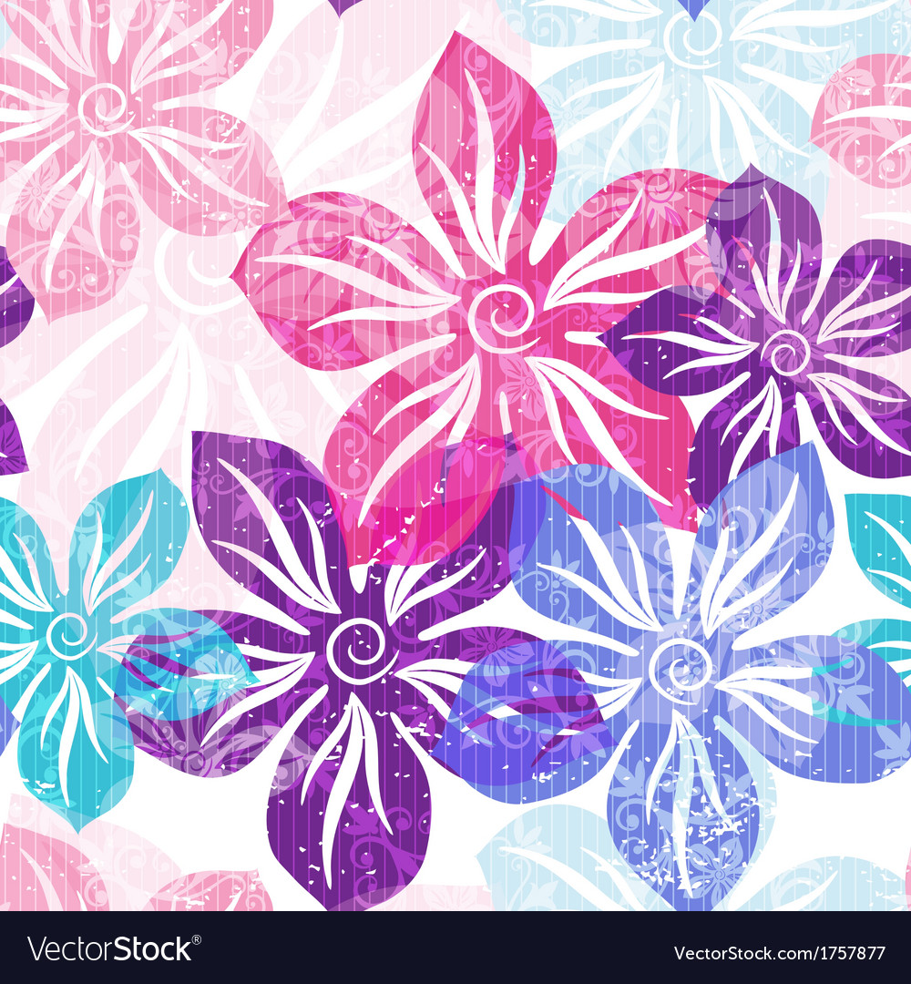 Seamless floral spring pattern vector | Price: 1 Credit (USD $1)