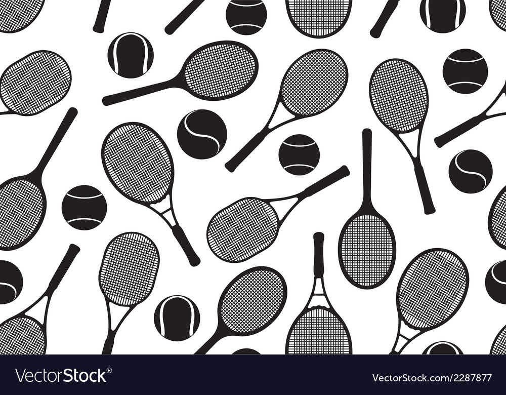 Tennis rackets seamless background vector | Price: 1 Credit (USD $1)