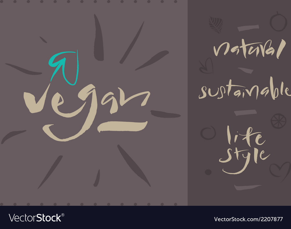 Vegan vector | Price: 1 Credit (USD $1)