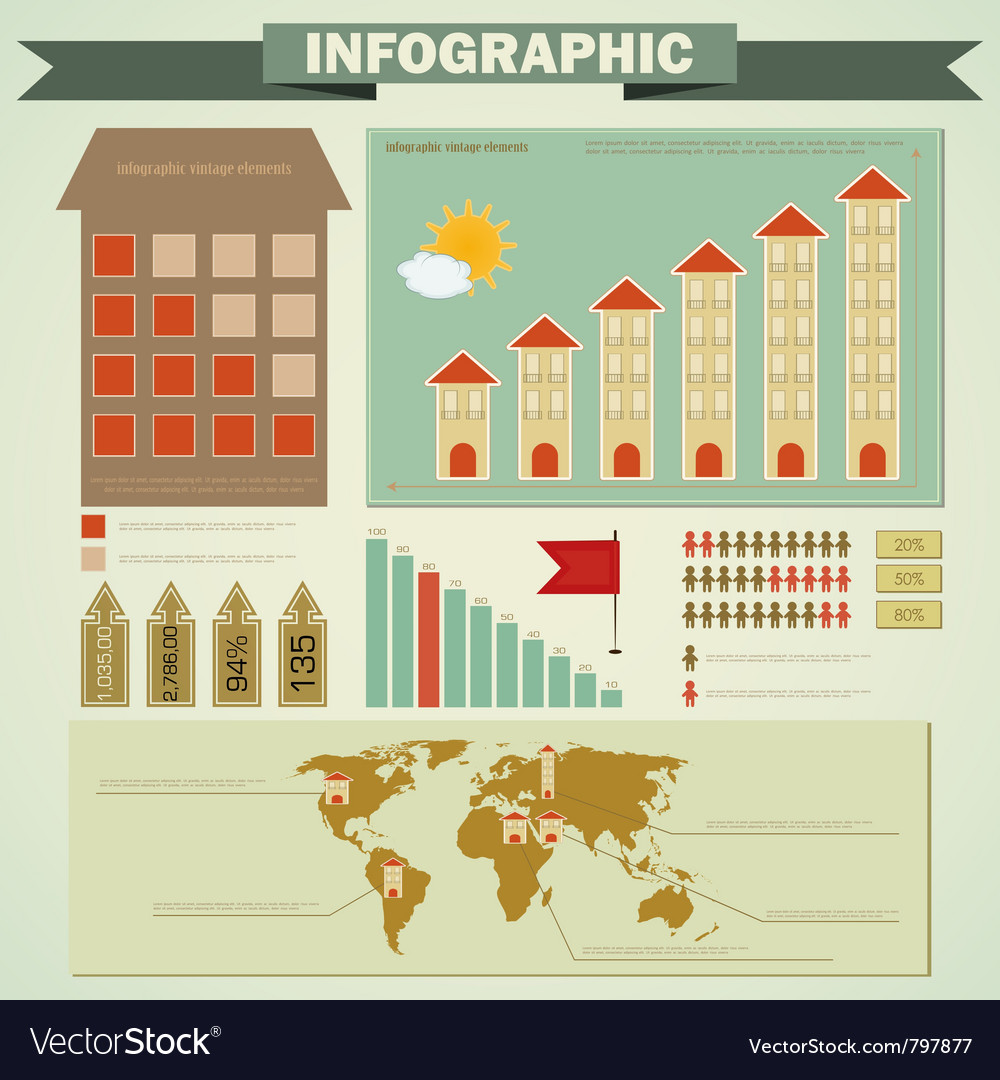 Vintage infographics vector | Price: 1 Credit (USD $1)
