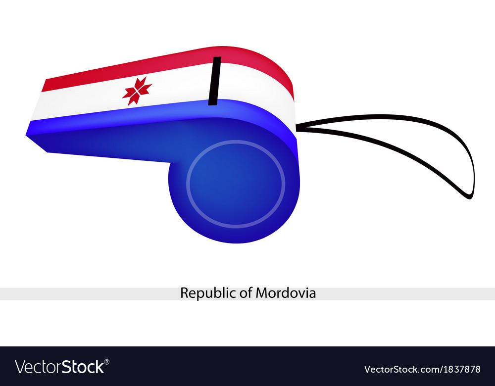 A whistle of the republic of mordovia vector | Price: 1 Credit (USD $1)