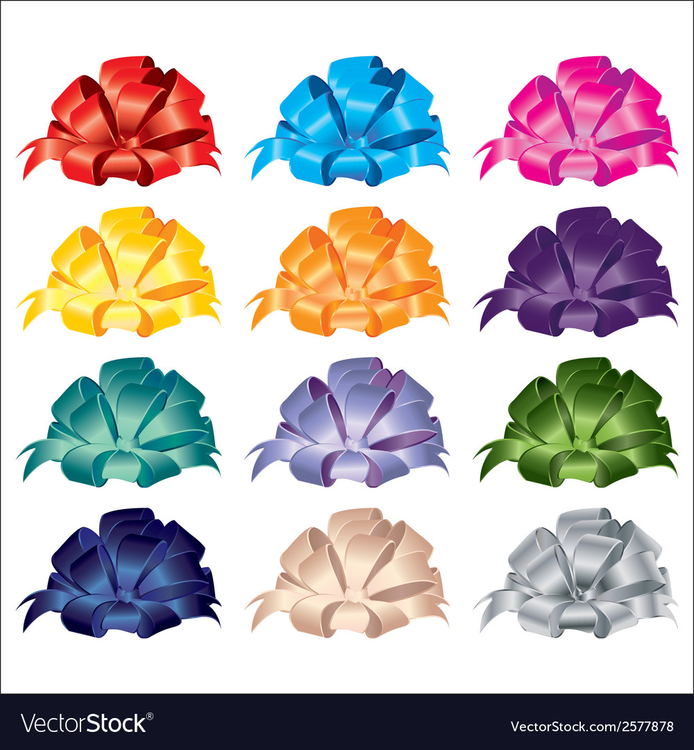 Big set of gift bows with ribbons vector | Price: 1 Credit (USD $1)