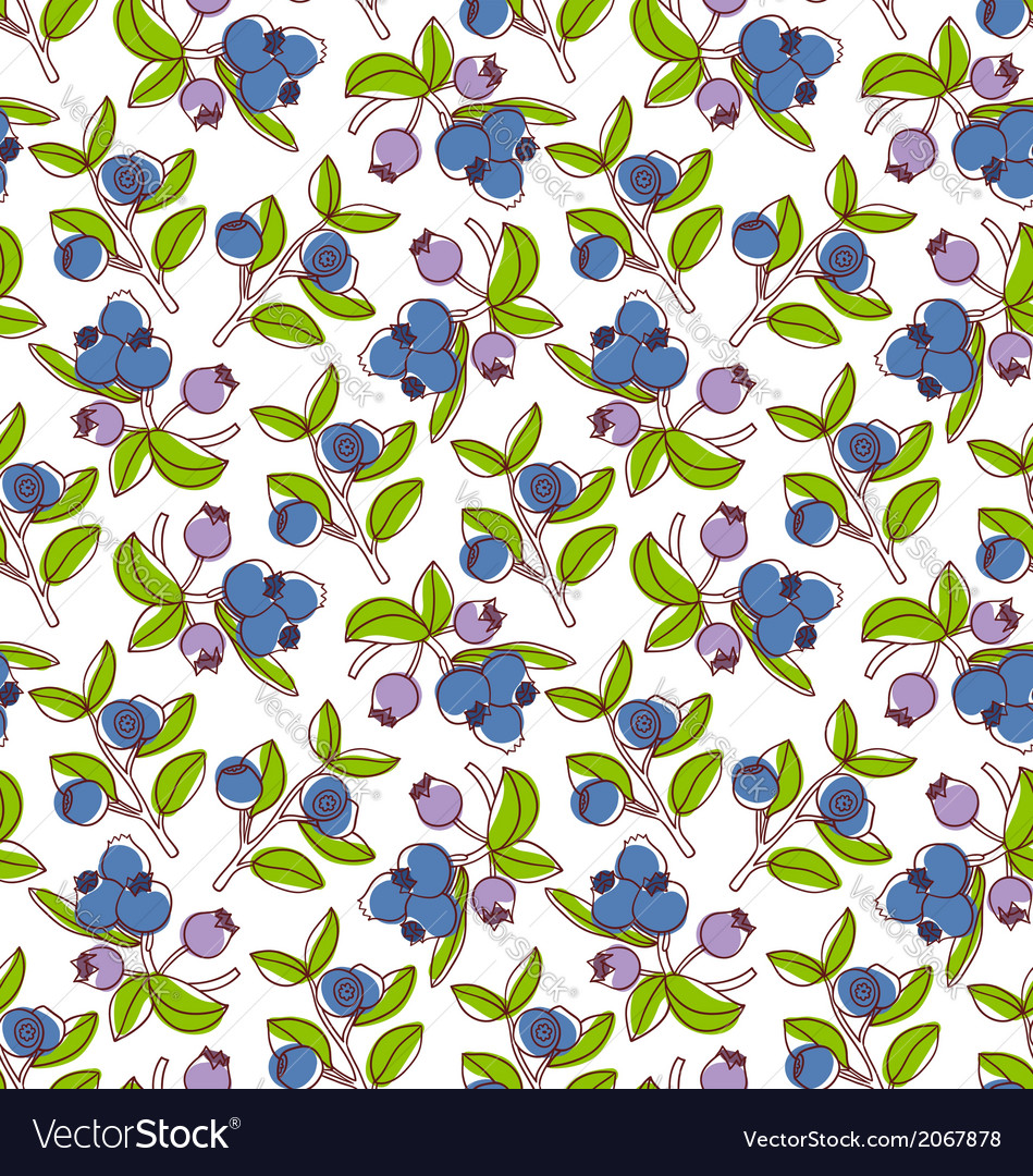 Blueberries pattern vector | Price: 1 Credit (USD $1)