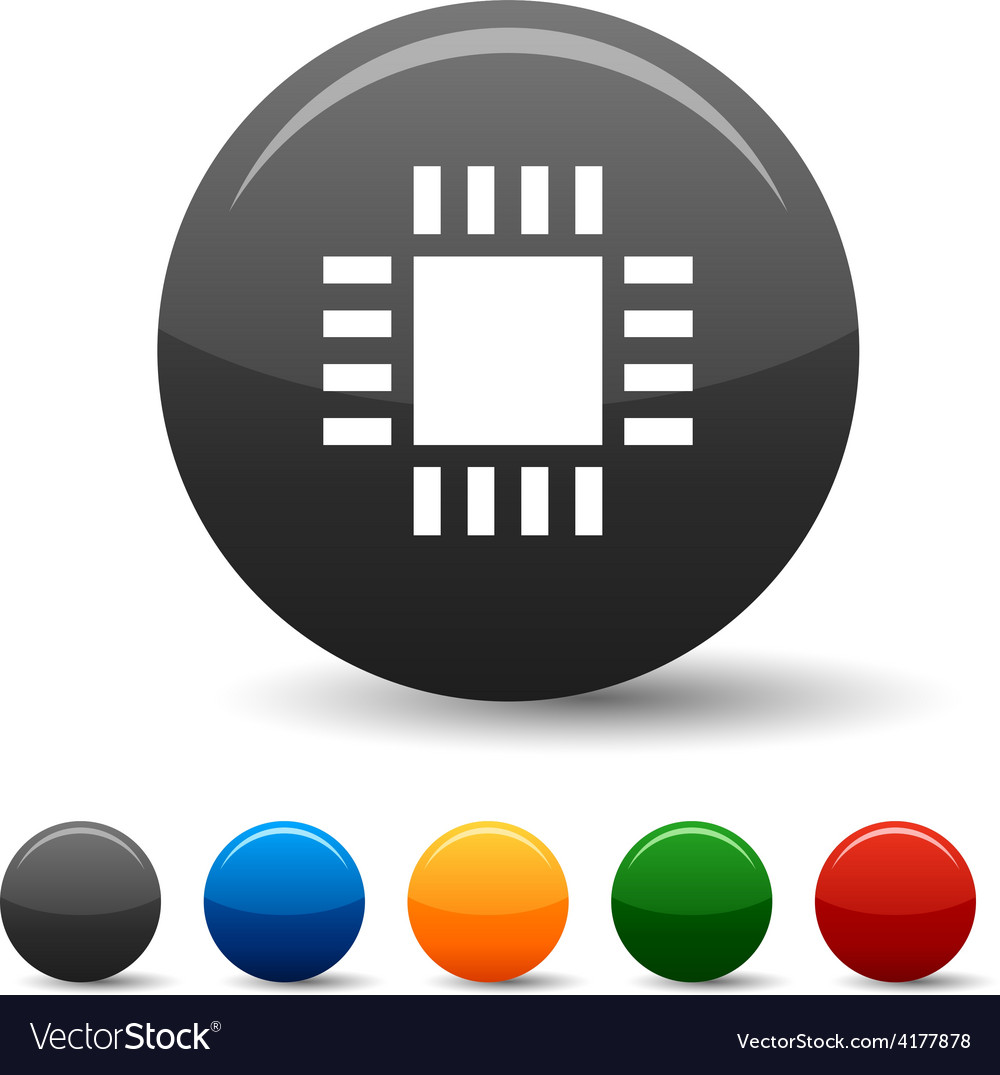Cpu icons vector | Price: 1 Credit (USD $1)